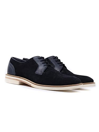 96a680850a522e Ted Baker Men s Siablo Perforated Suede Derby Shoes - Dark Blue ...
