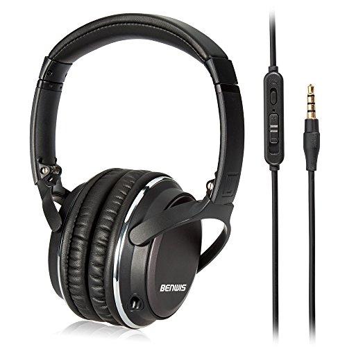 Stereo Bass Over-the-Ear Headphones Headset (Black) - 1