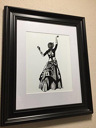 Bellydance - Original Ink Drawing - Art Print