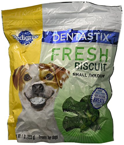 Dentastix Pedigreereg; Reg; Fresh Biscuit Small/Medium (1 Lb), Large
