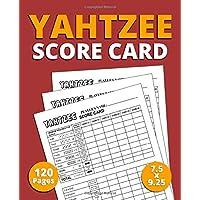 """Yahtzee Score Card: 120 Pages Premium Quality Score Card for Scorekeeping, 7.5"""" x 9.25"""" Yahtzee Score Book"""