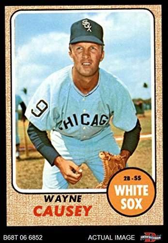 1968 Topps # 522 Wayne Causey Chicago White Sox (Baseball Card) Dean's Cards 6 - EX/MT White Sox