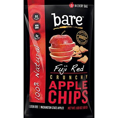 Bare Baked Crunchy Fuji Apple Crisps (Pack of 6 Bags)