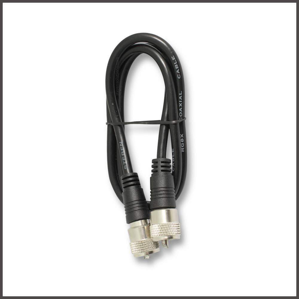 Steren 205-703 3-Feet UHF-UHF Mini-RG8x Cable