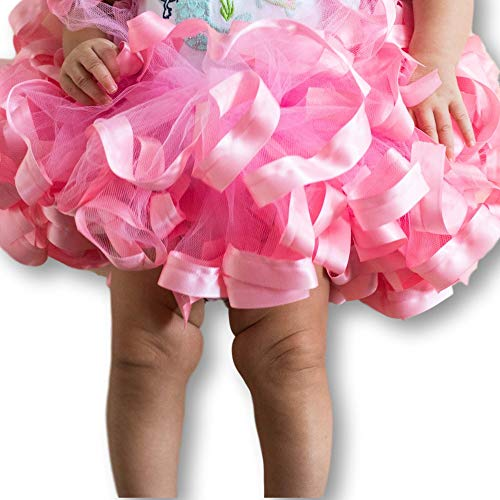 Pink Tutu for Girls, Pink Tulle Skirt for Baby, Pink Newborn Tutu, Newborn - Size 12 -