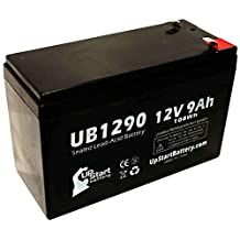 APC SMART-UPS 420 SU420 Battery - Replacement UB1290 Universal Sealed Lead Acid Battery (12V, 9Ah, 9000mAh, F1 Terminal, AGM, SLA) - Includes TWO F1 to F2 Terminal Adapters