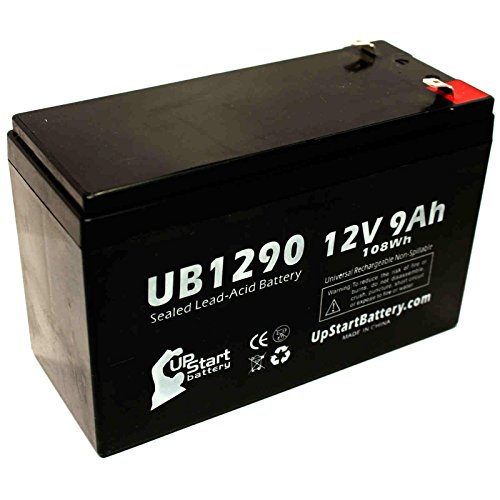 APC BACK-UPS 600 BN600 Battery - Replacement UB1290 Universal Sealed Lead Acid Battery (12V, 9Ah, 9000mAh, F1 Terminal, AGM, SLA) - Includes TWO F1 to F2 Terminal Adapters