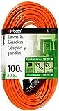 Woods 0724 16/2 Vinyl SJTW General Purpose Extension Cord, 100-Foot, Orange