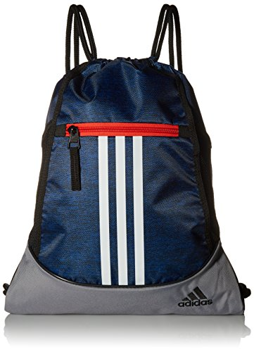 adidas Alliance II Sackpack-Collegiate Royal Blue Jersey/Scarlet/White/Grey, One Size