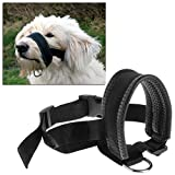 Rockruck Dog Muzzle with Adjustable Straps - Pet Dog Padded Head Collar Gentle Halter Leash Leader Adjustable Dog Muzzle Mask - Ideal for Medium to Large Dogs (L)