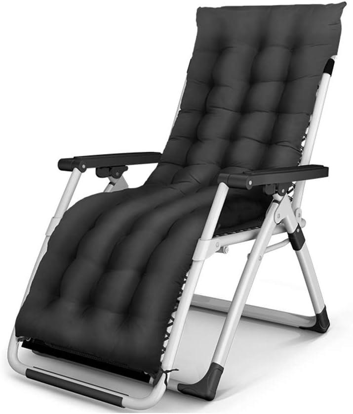 HPLL Tumbona, sillones reclinables plegables de gravedad cero para el patio Terraza Silla de playa para tomar el sol Sillón de descanso para la siesta en el interior Lazy Lounge Lounge (ajuste de 0-16