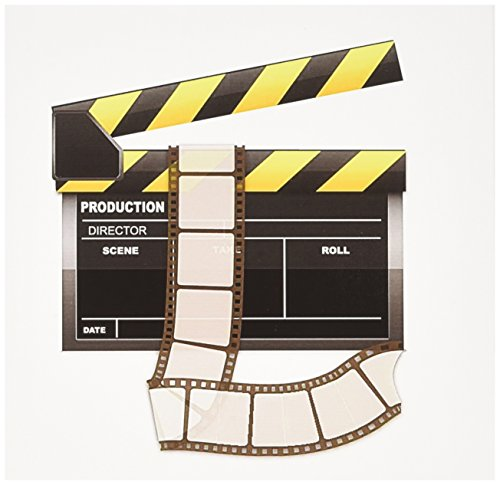 3dRose Yellow and Black Movie Clapboard - Greeting Cards, 6 x 6 inches, set of 12 (gc_101293_2)