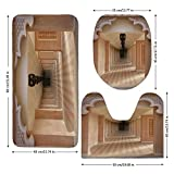 3 Piece Bathroom Mat Set,Arabian,Arabian-Style-Artistic-Aisle-in-Madinat-Jumeirah-Islam-Historic-Interior-Design-Art,Sand-Brown.jpg,Bath Mat,Bathroom Carpet Rug,Non-Slip