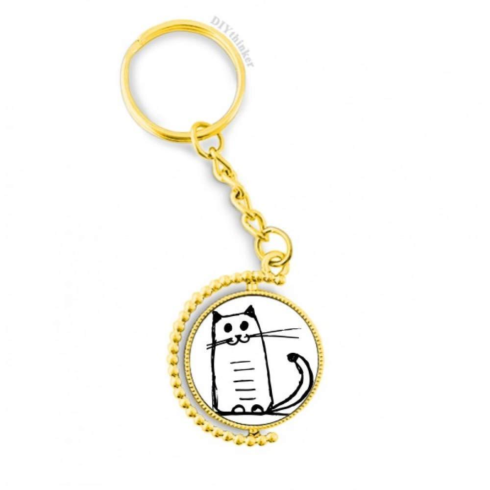 Amazon.com: Llavero de metal con diseño de gato sonriente ...