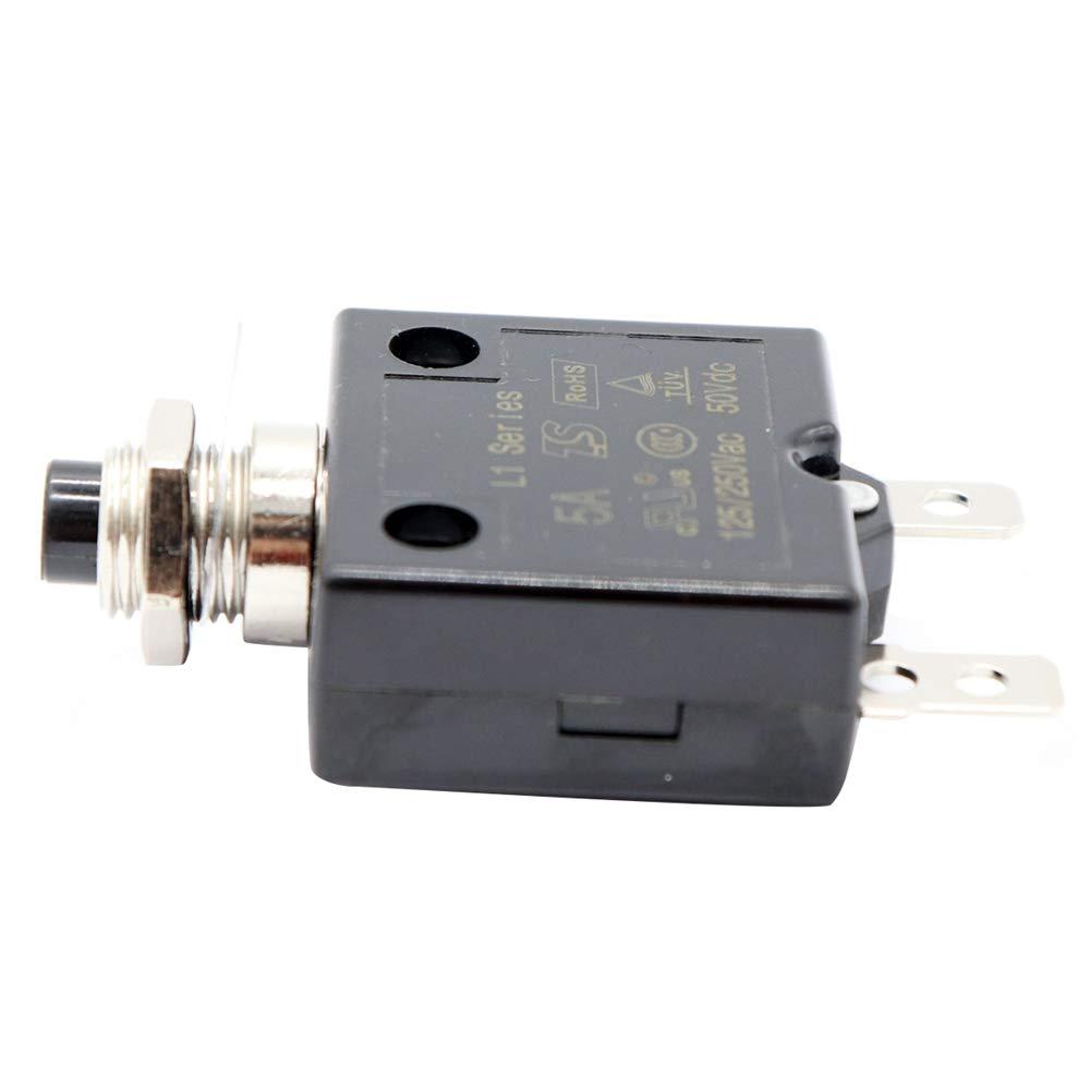 24 V Taste R/ück Stellbare W?rme Schalter Panel Installation Mit Wasserdichte Kappe Cikuso 1 x 25A Leistungs Schalter 12 V
