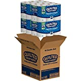 Quilted Northern Ultra Soft & Strong Toilet Paper with CleanStretch, 48 Double Rolls (Four 12-Roll Packages), Equivalent to 96 Regular Rolls