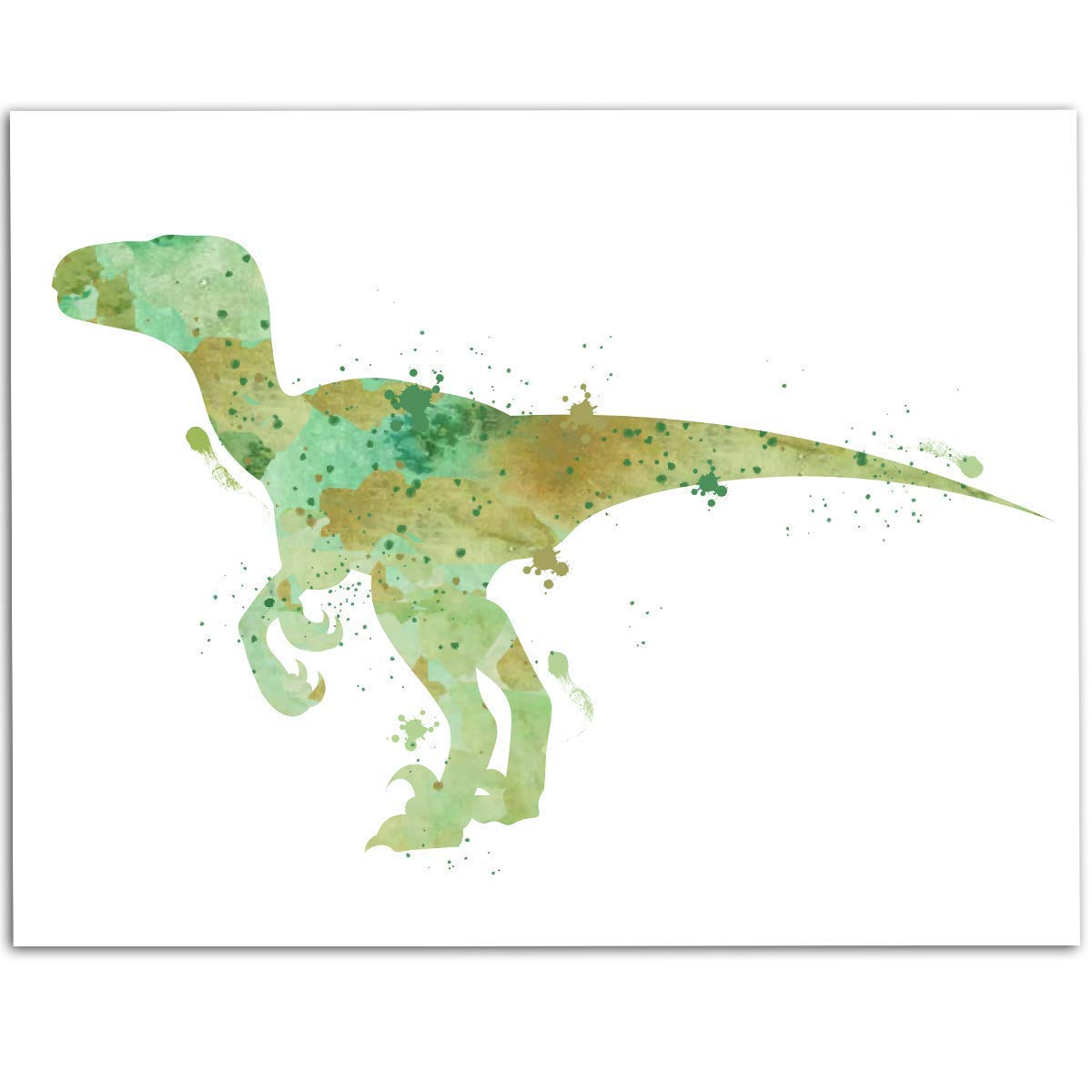 Great Funny Library Decor Also Makes a Great Gift Under $15 11x14 Unframed Art Print Dinosaurs Didnt Read