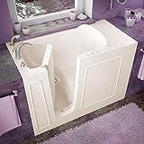 Spa World Venzi Vz2653lbs Rectangular Soaking Walk-In Bathtub, 26x53, Left Drain, Biscuit