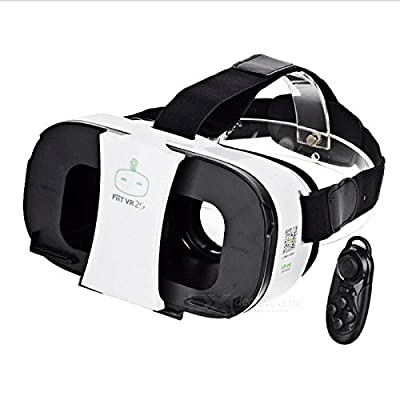 """VR Headset 3D Video Game Polarized Glasses for 4~6.5"""" Smartphone with Bluetooth Console"""