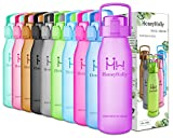 HoneyHolly Best Sports Water Bottle-32oz/1L&50oz/1.5L-Fast Flow,Flip Top Leak Proof Lid/One Click Open-Non-Toxic BPA Free-Training Jug Container(Purple 50oz-1.5L)