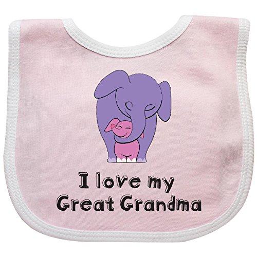 (Inktastic - I Love my Great Grandma Elephant Baby Bib Pink/White 26d60)