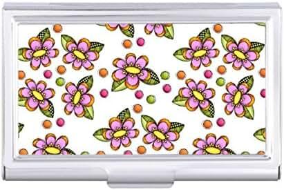 Sketchy Pink Flower Card Holder