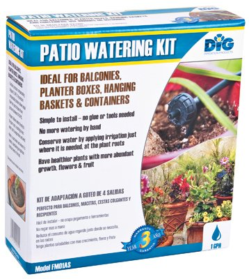 DIG FM01AS Patio Drip Watering Kit with Anti-Siphon