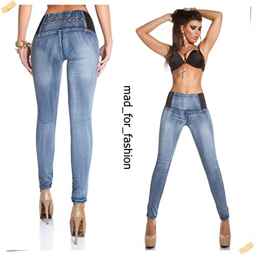 SEXY HIGH WAIST KOUCLA SKIINY JEANS WITH BACK PRINT.: Amazon.co.uk ...