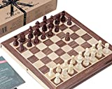 Chess Sets - Hand Carved Genuine Jaques Chess Set with 11' Folding Chess Board & Case - Quality Chess Since 1795