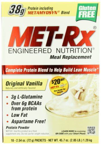 MET-Rx® Original Meal Replacement Original Vanilla, 18 count (2.54 ounce packets)