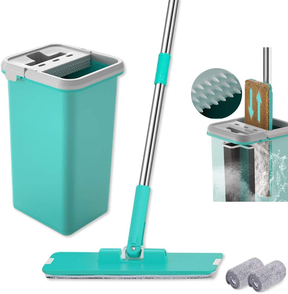 Microfiber Flat Squeeze Mop and Bucket