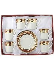 Dania Turkish Coffee Cups Set, Porcelain, 12 Pcs