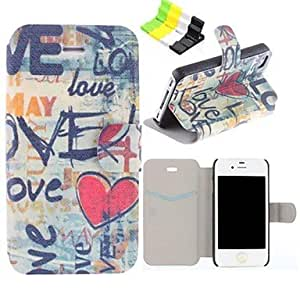 ZL Love Pattern PU Leather Full Body Case Have A Perfume and Phone Holder for iPhone 5/5S