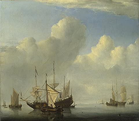 High Quality Polyster Canvas ,the Beautiful Art Decorative Canvas Prints Of Oil Painting 'Willem Van De Velde A Dutch Ship Coming To Anchor ', 10 X 12 Inch / 25 X 29 Cm Is Best For Foyer Gallery Art And Home Gallery Art And (Coming To America Blu)