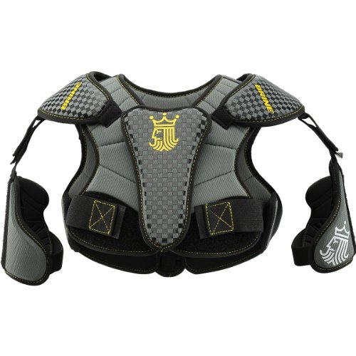 BRINE Youth LoPro Prodigy Lacrosse Shoulder Pads Black Gray Medium