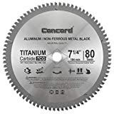 "Concord Blades ACB0725T080HP 7-1/4"" 80 Teeth TCT Non-Ferrous Metal Saw Blade"