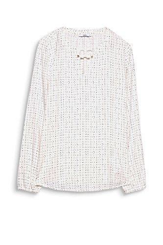 by edc Esprit Blanc 110 White Off Blouse Femme vZZzBnqd