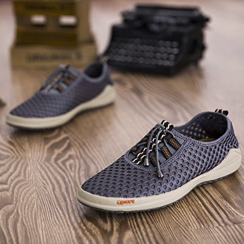 Scarpe Da Uomo Traspiranti In Maglia Leggera Estiva Slip On Fashion Outdoor Sport Casual Da Corsa Sneaker Grigio