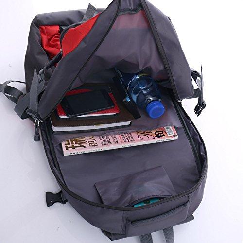 Mountaineering Bag Outdoor Männer und Frauen Schulter Paket atmungsaktiv Wanderrucksack multifuction Tasche , grün