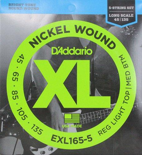 D'Addario ダダリオ ベース弦 ニッケル Long Scale 5弦 .045-.135 EXL165-5 【国内正規品】   B00I0J4PO0