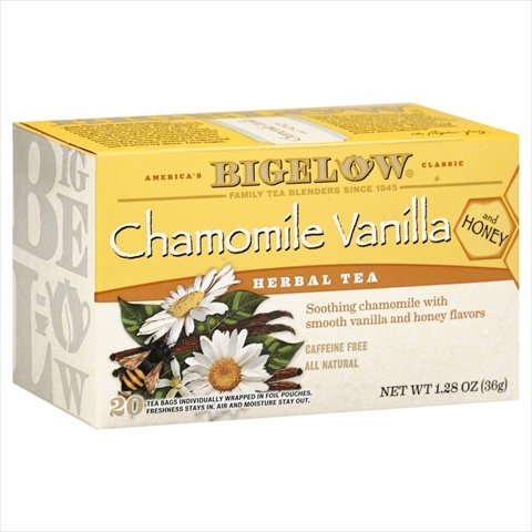 Bigelow Chamomile Vanilla Herbal Tea with Honey - 20 bags per pack -- 6 packs per (Bigelow Honey)