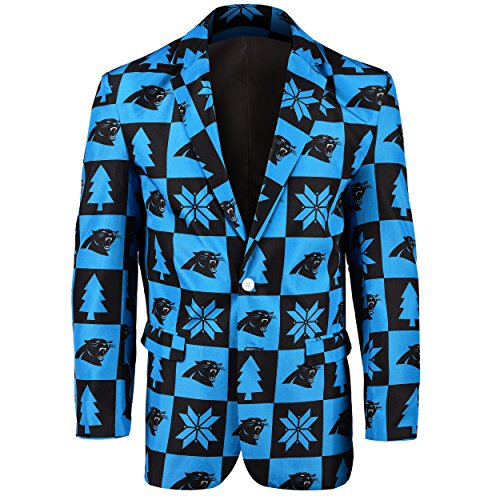 NFL Carolina Panthers Men's Patches Ugly Business Jacket, Size 50/XX-Large by Forever Collectibles
