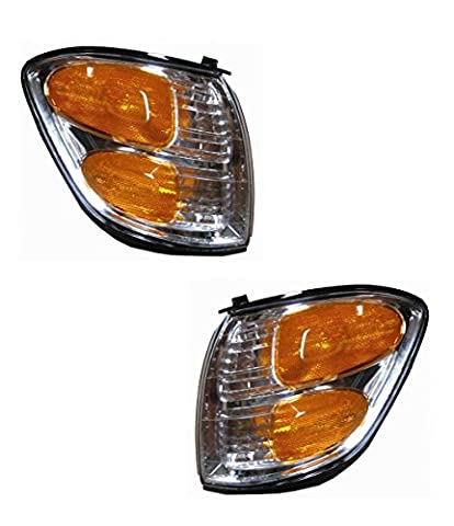 2001-2002-2003-2004 Toyota Sequoia & 2004 Tundra Pickup Truck Park Corner Lamp Turn Signal Marker Light Pair Set Right Passenger AND Left Driver Side (01 02 03 - Turn Signal Park Light Lamp
