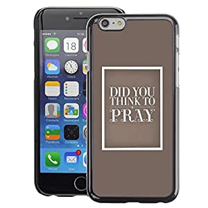 A-type Arte & diseño plástico duro Fundas Cover Cubre Hard Case Cover para iPhone 6 (God Christian Pray Love Beige Religion Bible)