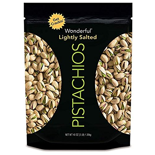Wonderful Pistachios, Lightly Roasted and Salted, 1 Pack of 48 Ounce by Wonderful Pistachios & Almonds