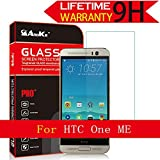 HTC One Me Glass Screen Protector, AnoKe [Lifetime Warranty](2.5D 0.3mm 9H) Tempered Glass Screen Protector Film Shield Guard For HTC One Me Glass