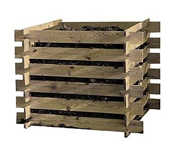 Compostador madera Abono Kit 100x100x70cm Compostadores