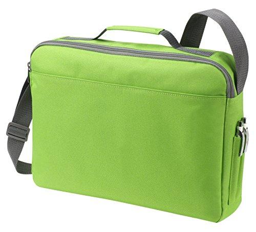 Bolsa de hombro bolsa de mensajero Bolsa del ordenador portátil en azul real verde manzana