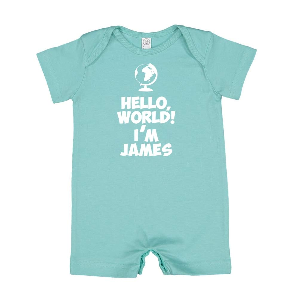 Personalized Name Baby Romper World Mashed Clothing Hello Im James
