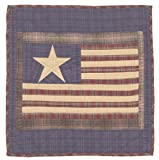 Old Glory Patriotic Wall Hanging Quilt 18 Inches by 18 Inches 100% Cotton Handmade Hand Quilted Heirloom Quality